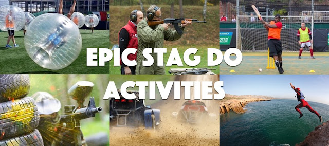 6 epic stag do activities, bubble football, paintball, shooting, coasteering, Turbo Cricket and rage buggies