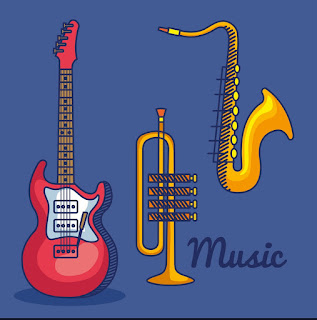 bass guitar and saxophone player