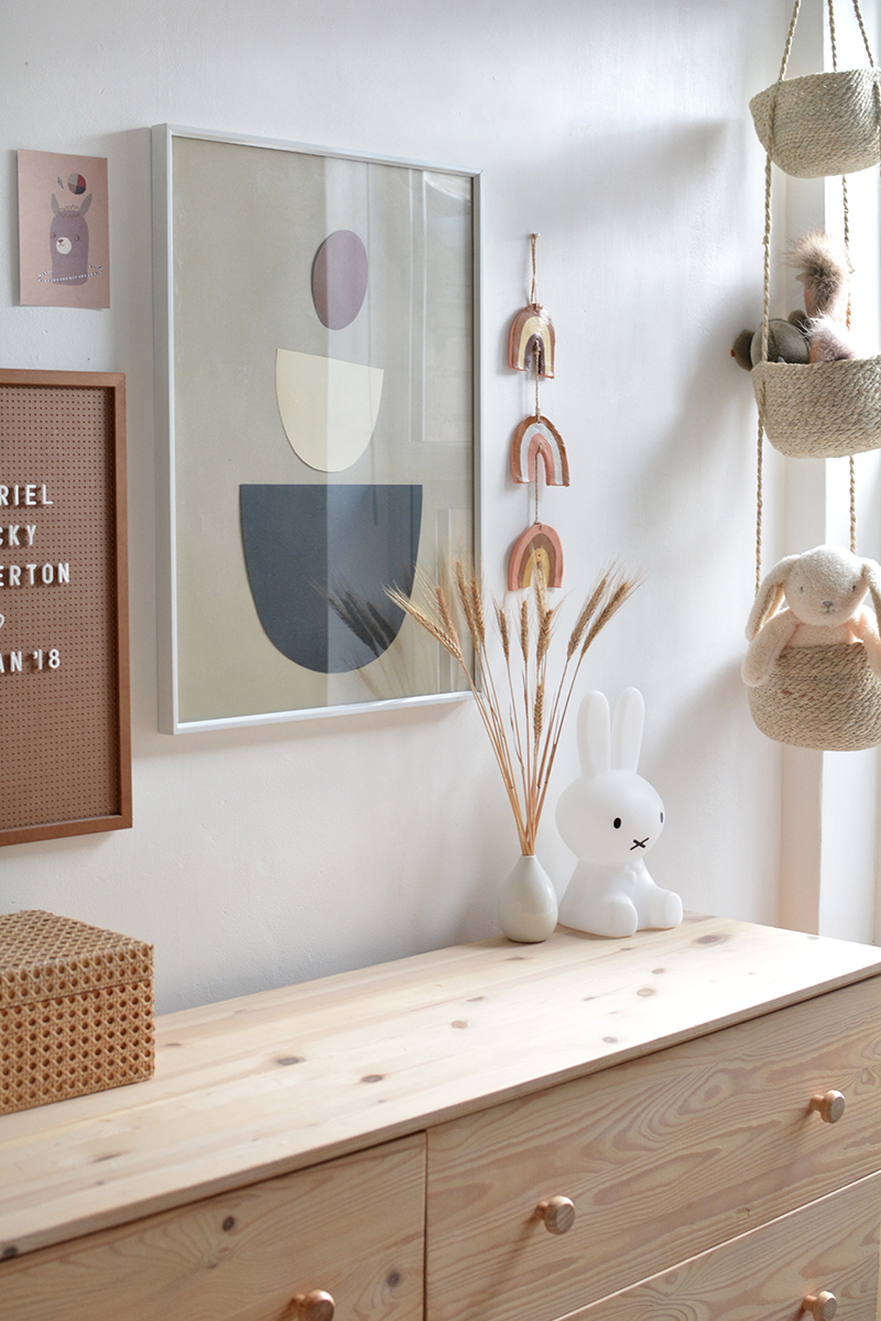 modern neutral nursery wooden drawers
