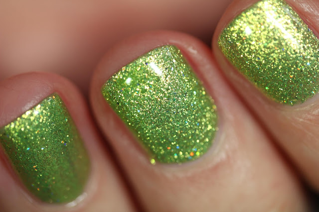 KBShimmer Turtely Awesome metallic lime green nail polish