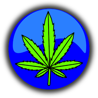 Image of an Marijuana leave done with computer graphics