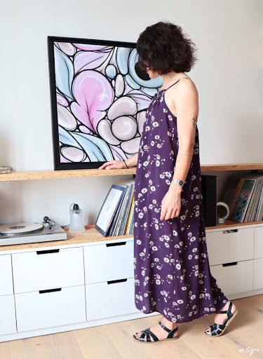"""Un """"Top Mésange"""" Version Robe Longue... (Patron de chez Delphine Morissette) par m Gg++..."""