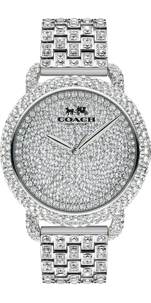 Coach Women's Crystal Accent Stainless Steel Bracelet Watch 36MM