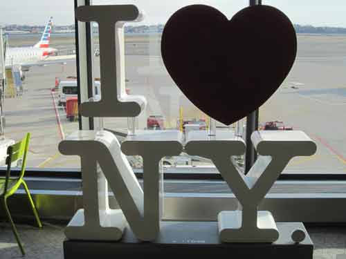 I Heart New York Sign At The Airport