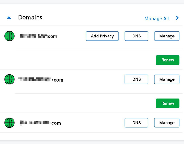Domain DNS settings