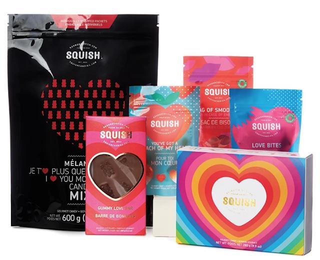 bonbons Squish St-Valentin idées cadeaux
