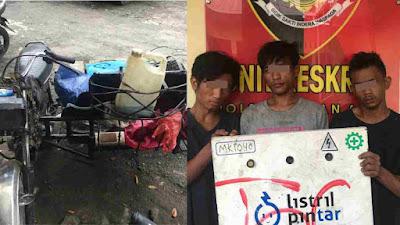 Sungguh Nekat..!! 1 Buah Tutup Panel PLN Dicuri 3 Pemuda, Ya Gol lah di Polsek Medan Area