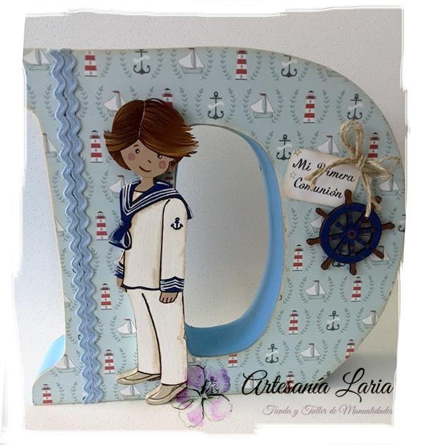Artesan a laria letras decoradas para comuni n - Letras decorativas para ninos ...