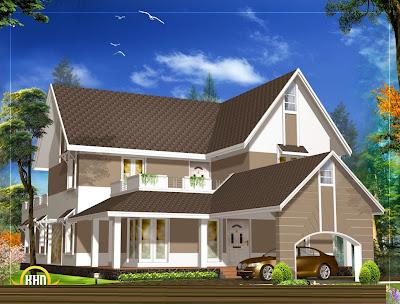 model lampu atap rumah minimalis