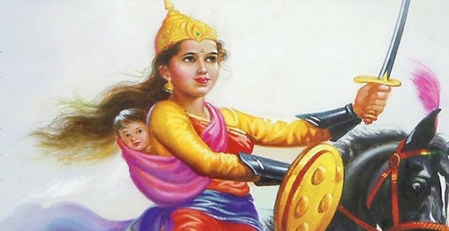 Rani Laxmi Bai died fighting the British