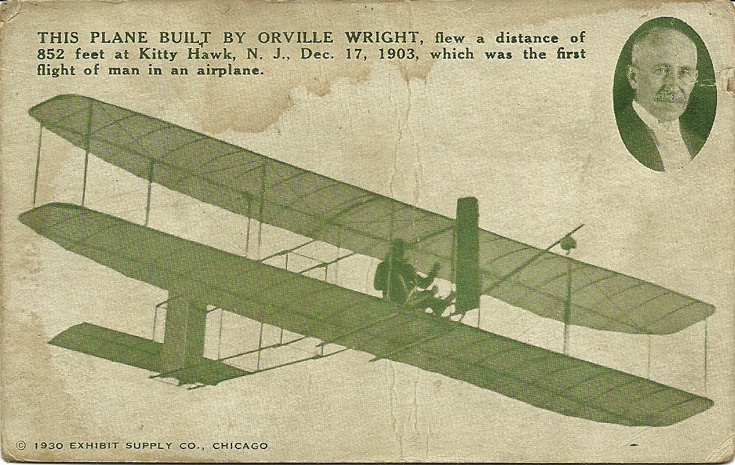 1911 Wright Glider incorrectly identified as 1903 Aeroplane