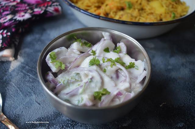 Onion Raita Recipe |How to make Onion Raita