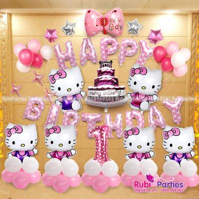 Set bong sinh nhat chu de Hello Kitty KT605
