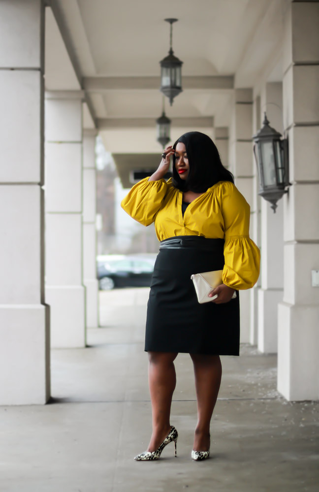 Statement Sleeves Outfit Idea Spring Plus Size Blog