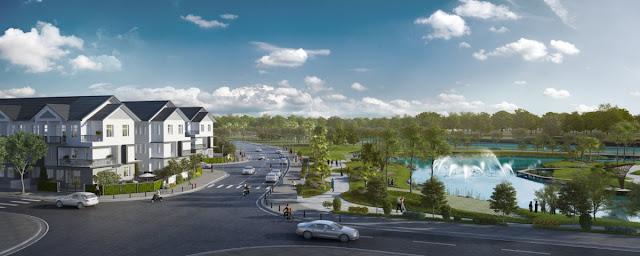Hồ điều tiết 6000 m2 khu Biệt thự - Nhà phố Park River Side quận 9 HCM