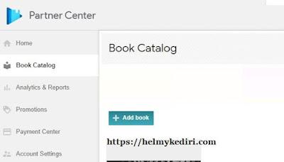 Upload buku pertama ke google play book