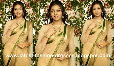 gold colour saree