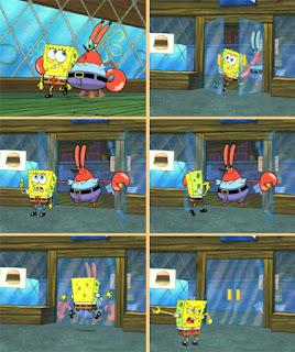 Polosan meme spongebob dan patrick 41 - spongebob di usir dari krusty krab