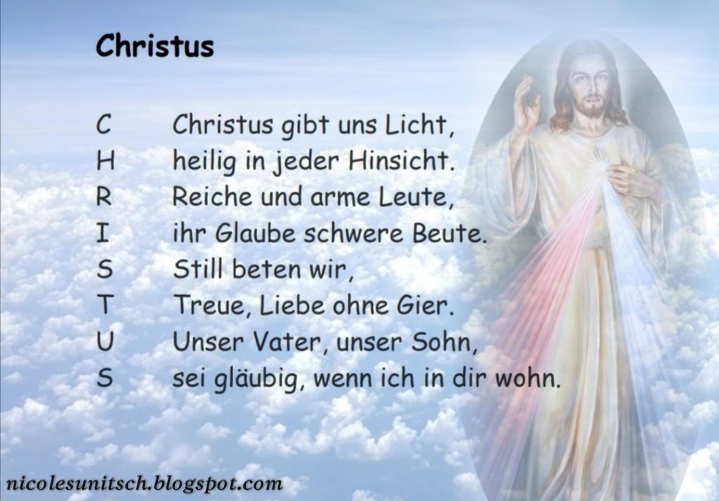 Gedichte Von Nicole Sunitsch Autorin Christus Gedicht Von