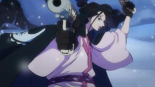 ワンピースアニメ 993話 ワノ国編   イゾウ 銃 かっこいい IZO   ONE PIECE 白ひげ海賊団隊長