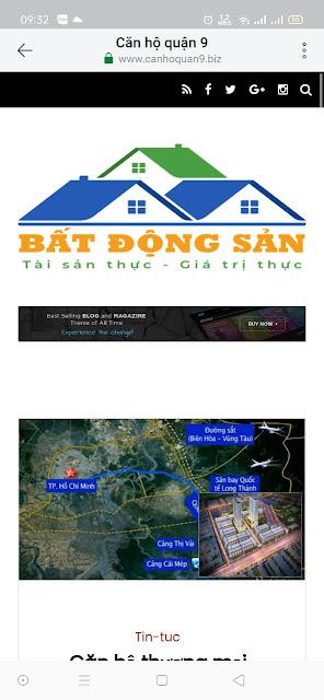 Mẫu website Bất động sản giao diện điện thoại