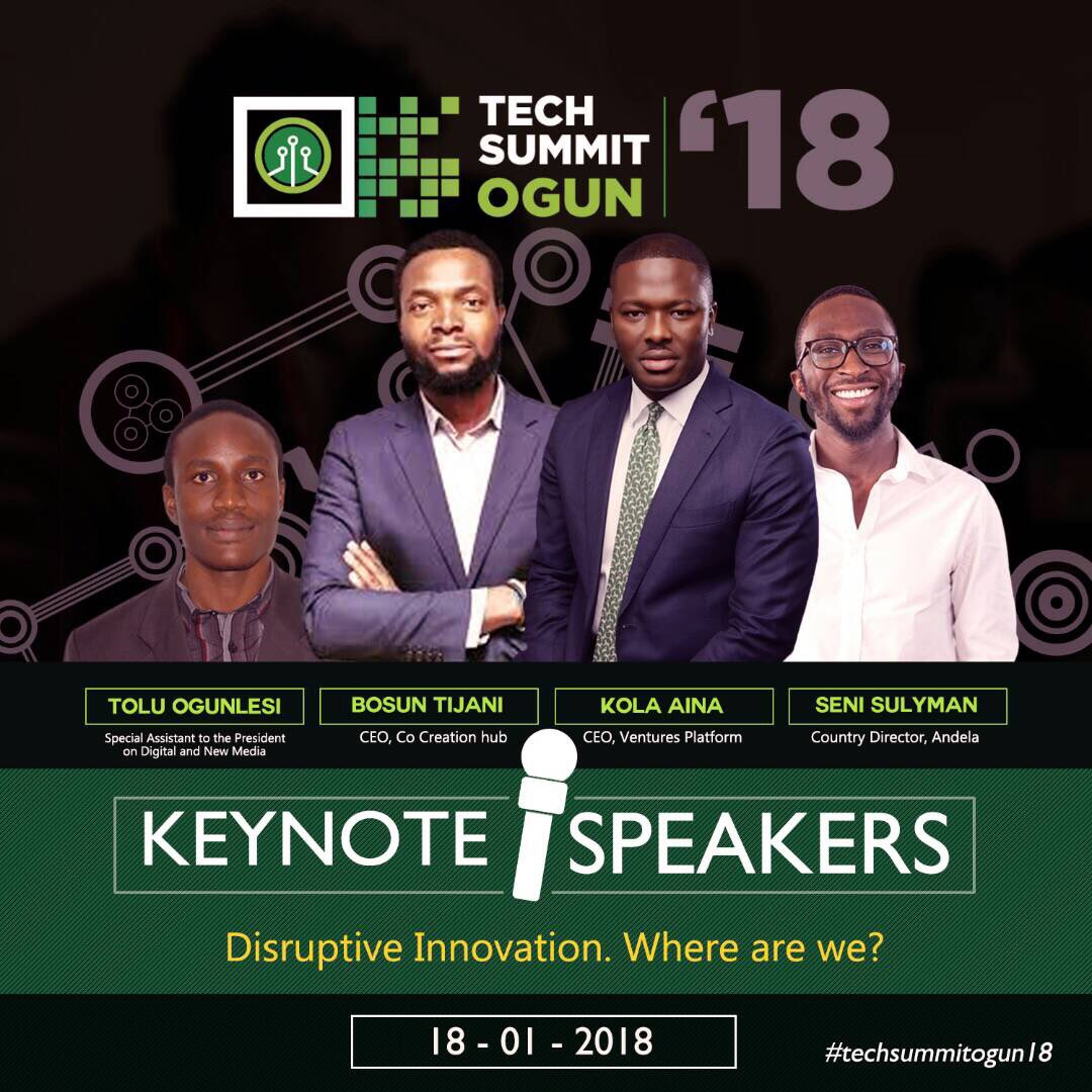 Tech Summit Ogun happening Jan 18, 2018, See how to Register