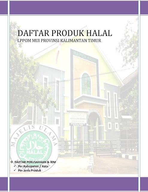 Data Produk Halal Kaltim Up April 2020