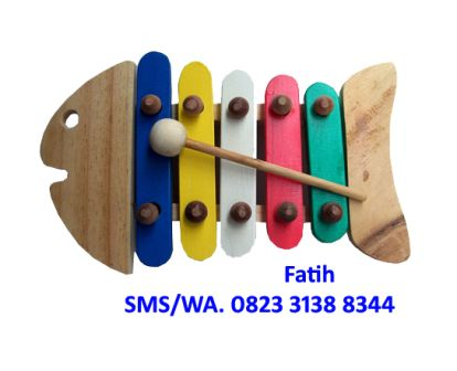 Mainan Anak Dari Kayu Fish Kolintang