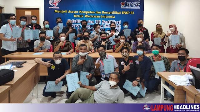 2 Pengurus FPII Pusat Lulus Uji Sertifikasi Sebagai Acesor Dari BNSP, FPII Setwil Lampung Bakal Gelar UKW
