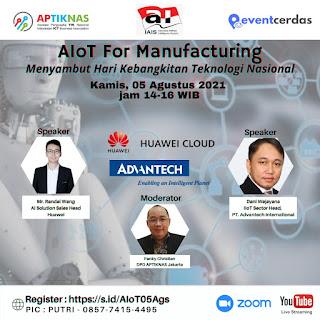 Webinar AIoT for Manufacturing - 5 Agustus 2021