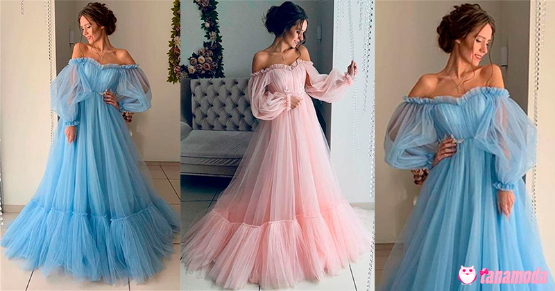 Puff Sleeve Prom Dresses - Top 8