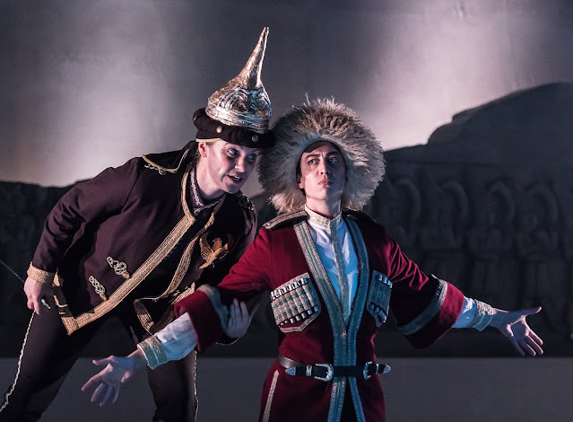 Handel's first version of Radamisto - Joanna Marie Skillett (Tigrane), Bianca Andrew (Radamisto) - Guildhall School of Music & Drama, 2017 (Photo Clive Barda)