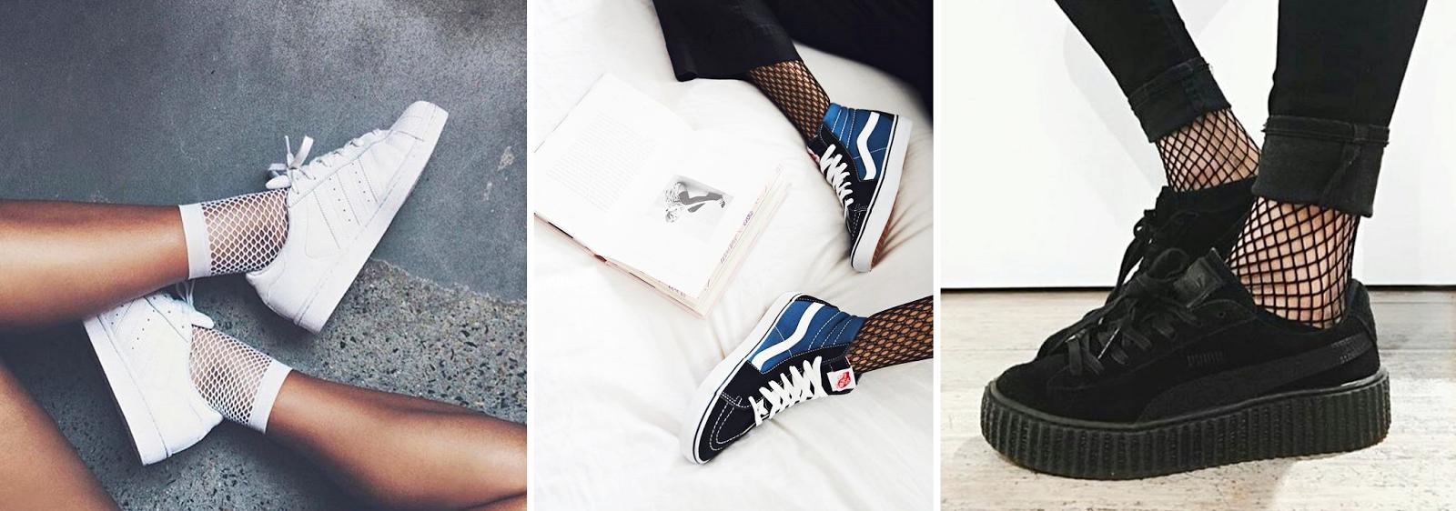 sneakersy z kabaretkami