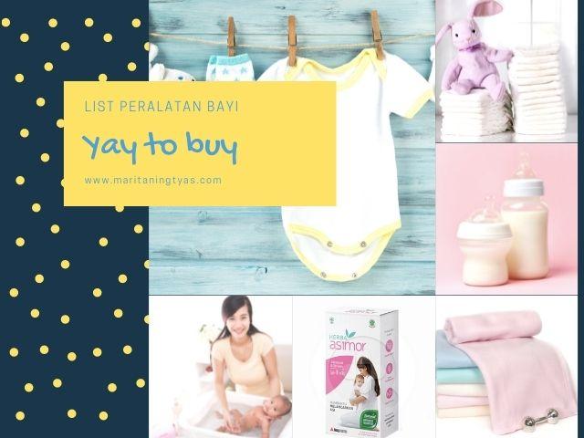 list peralatan bayi wajib beli