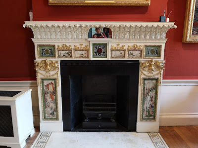 Adam fireplace in the upper hall, Kenwood (2019)