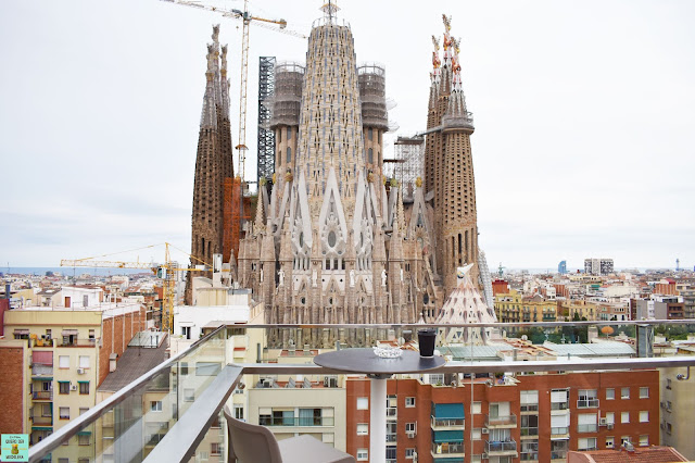 Terraza del hotel Ayre Rosellón de Barcelona