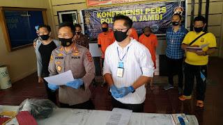 Polresta Jambi Gelar Press Release Ungkap Peristiwa Penikaman (FM)