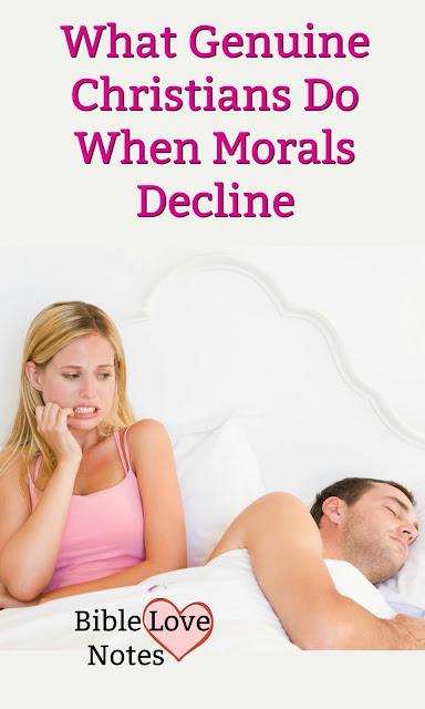 When morals decline, Genuine believers remain Salt and Light. This 1-minute devotion explains.