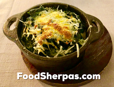 Creamed Spinach from Carnal in Santiago, Chile