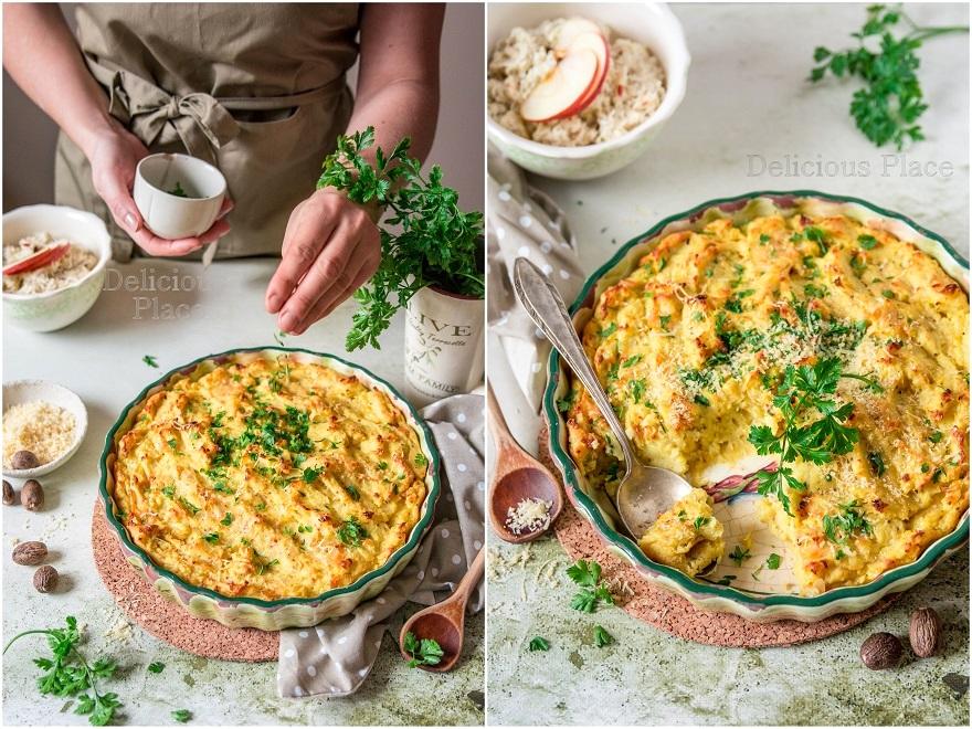 Zapiekanka ziemniaczana z musztardą i curry