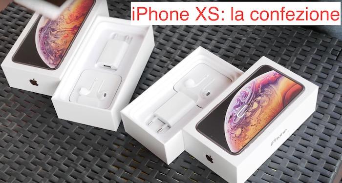 iphone xs confezione