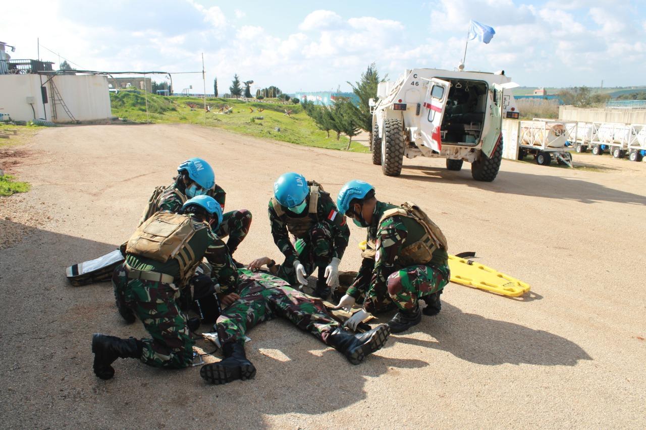 Satu Personel Satgas Indobatt XXIII-O UNIFIL Alami Kecelakaan Saat Laksanakan Patroli