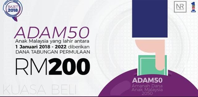 Cara Mohon Amanah Dana Anak Malaysia 2050 (ADAM50)