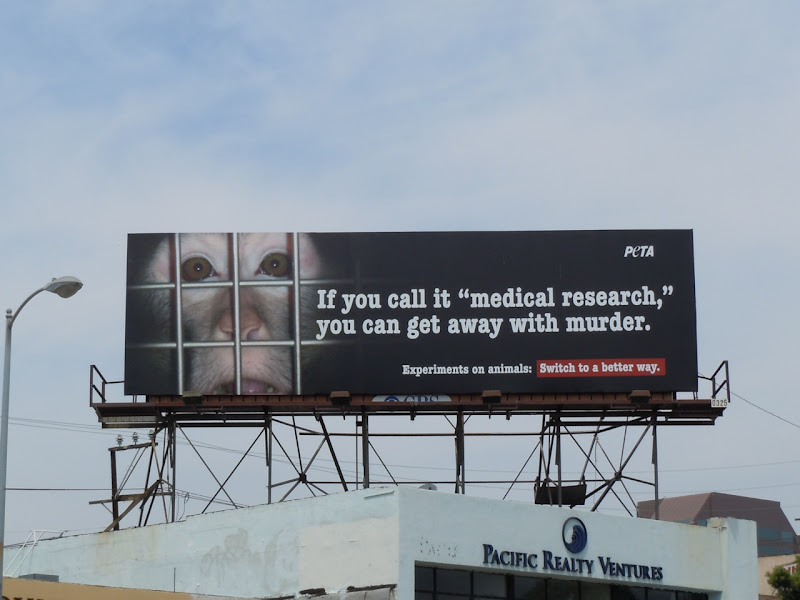 PETA medical research murder billboard
