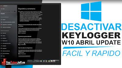 desactivar keylogger windows 10