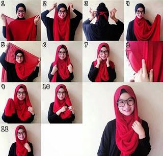 cara memakai hijab santai