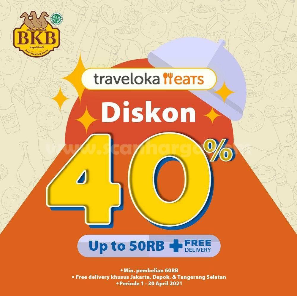 BEBEK BKB Promo DISKON 40% + FREE DELIVERY via Traveloka Eats