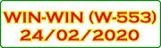 WIN-WIN W-553 Kerala Lottery Result Today 24-02-2020