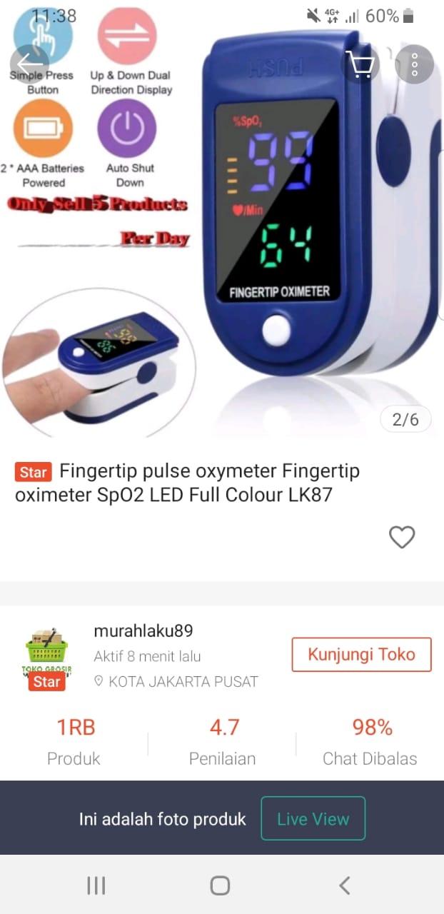 oxymeter beli di Shopee murah