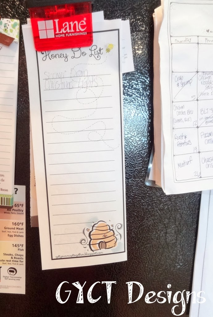 Printable Honey Do List by GYCT